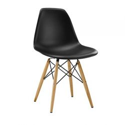 Cadeira Eames Flórida pé madeira natural