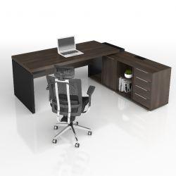 Mesa dinâmica com armário com tomadas e dutos Edge