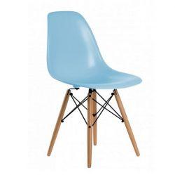 Cadeira Charles Eames Eiffel Kids base em madeira natural