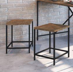 Mesa com 4 banquetas Steel Quadra