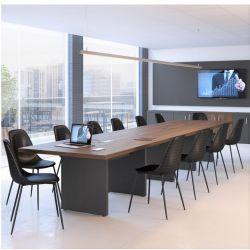 Mesa de reunião modular com caixa de tomadas Concept