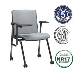 Cadeira de Treinamento com prancheta escamoteável Audioplax