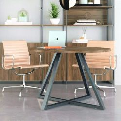 Mesa de reunião redonda pé metal Nobile