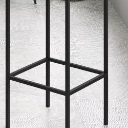 Kit 2 banquetas alta bistrô Steel Quadra