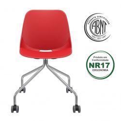 Cadeira Quick 4 pés com rodízios