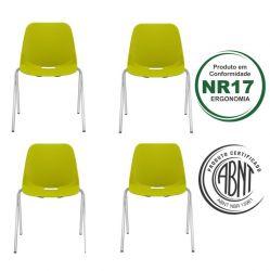 Kit 4 Cadeiras Aproximação Quick