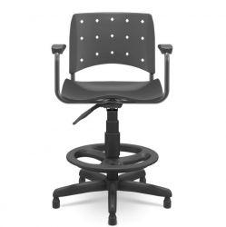 Cadeira caixa Ergoplax preta com braços