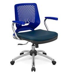 Cadeira Executiva Beezi base cromada com braços