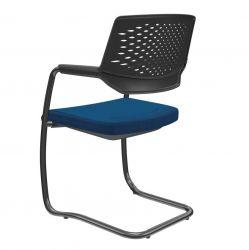 Kit 2 Cadeiras Aproximação Piena empilhavel base preta