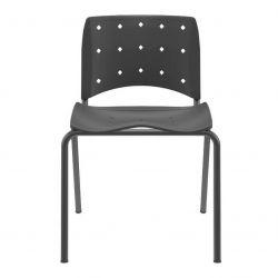 Cadeira Ergoplax Slim fixa Preta