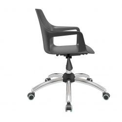 Cadeira Vesper giratória cromada
