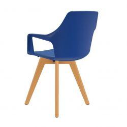 Cadeira aproximação Vesper estofada pés em madeira