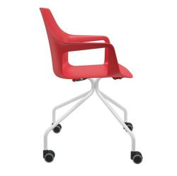 Cadeira Vesper 4 pés com rodízios