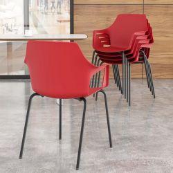 Cadeira aproximação Vesper pintura preta